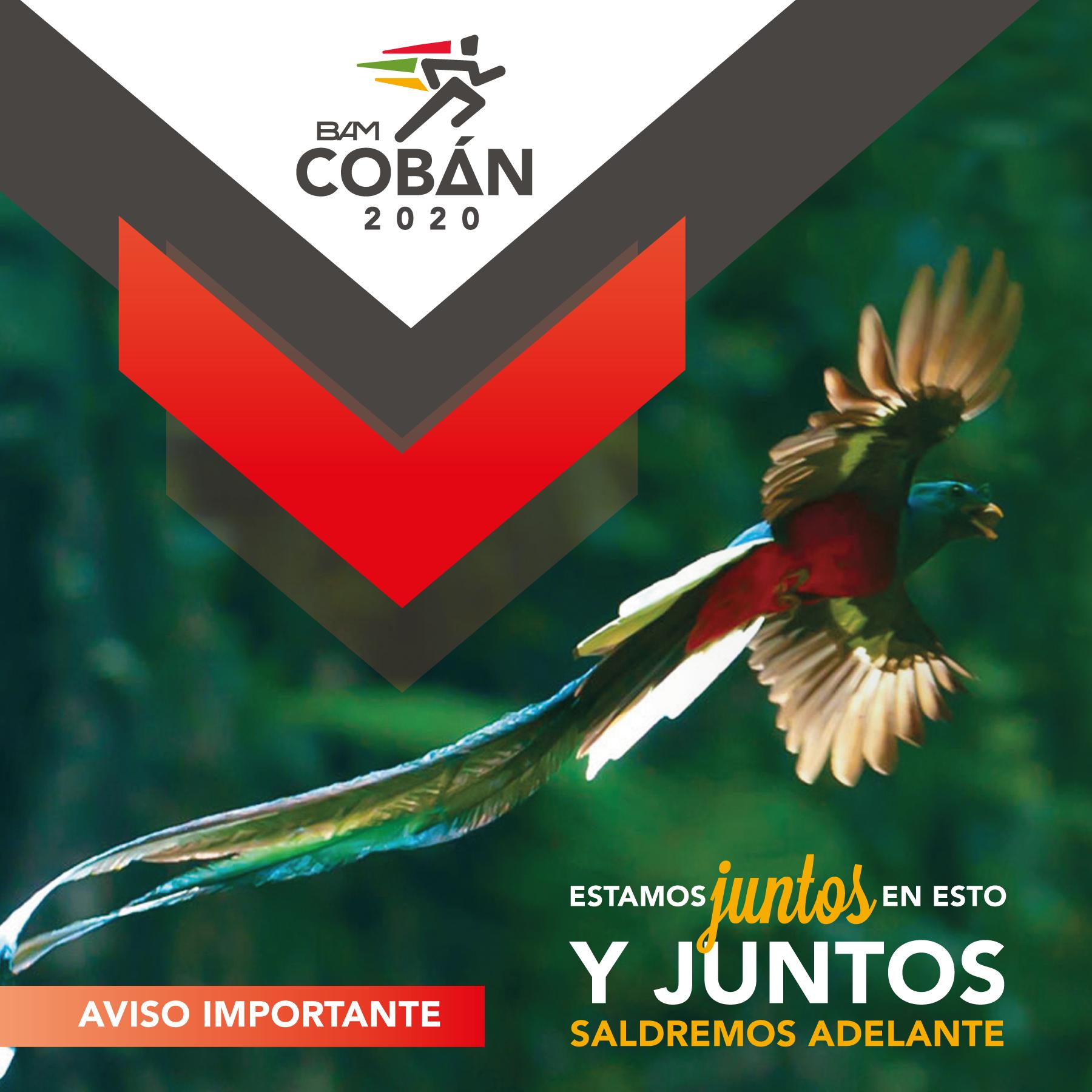 COMUNICADO OFICIAL MEDIO MARATON INTERNACIONAL DE COBAN